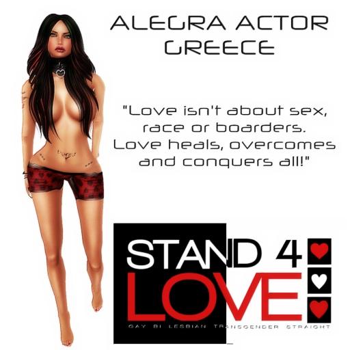 STAND4LOVE Alegra Actor