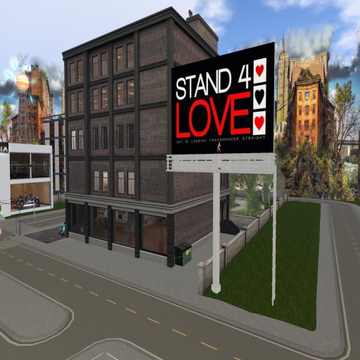 Stand4Love Billboard at ~ghee~ & Cold Media platform