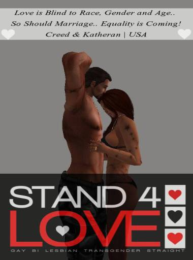 STAND4LOVE Creed Goldfire and Katheran Lannock