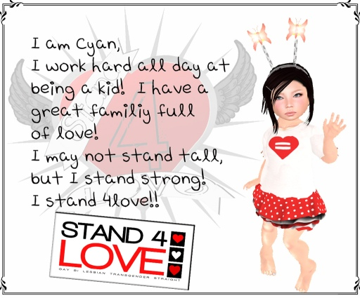STAND4LOVE Cyan by JenJen Sommerfleck