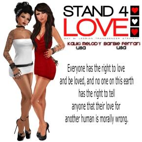 STAND4LOVE Kaliki Melody and Barbie Ferrari