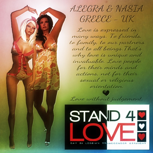 STAND4LOVE Nasia and Alegra Actor