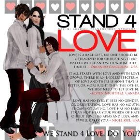 STAND4LOVE Nigel Riel Orlando Gascoigne Kisten Nightfire
