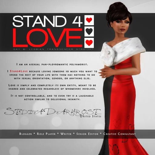 STAND4LOVE Sedia Darkrose
