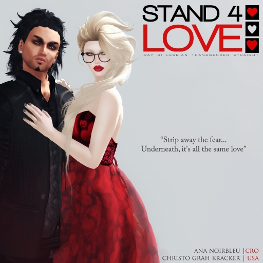 STAND4LOVE: Ana Noirbleu and Christo Grah Kracker