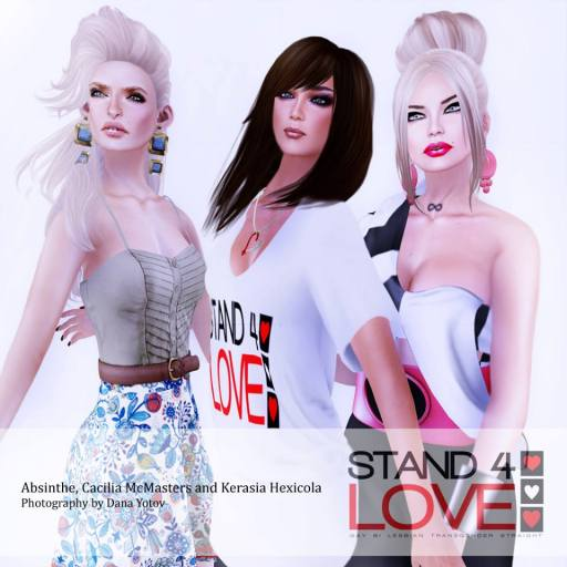STAND4LOVE Absinthe, Cacilia McMasters and Kerasia Hexicola