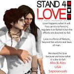 STAND4LOVE Ahn and Alex Avion