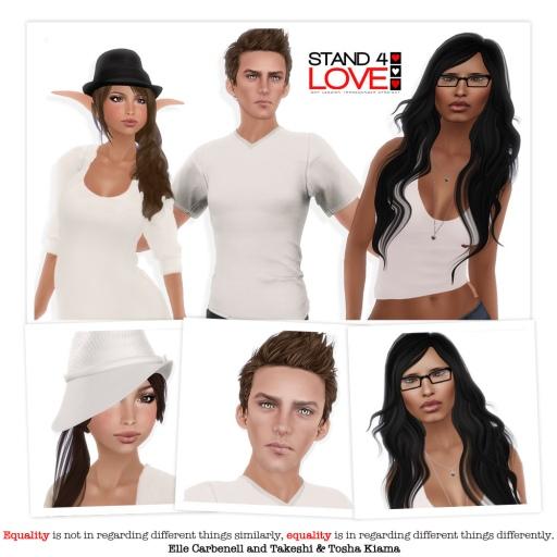STAND4LOVE Elle Carbenell, Takeshi Kiama and Tosha Bergan Kiama