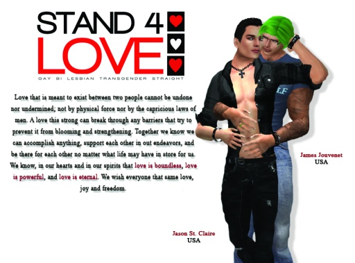 STAND4LOVE James Jouvenet and Jason St. Claire