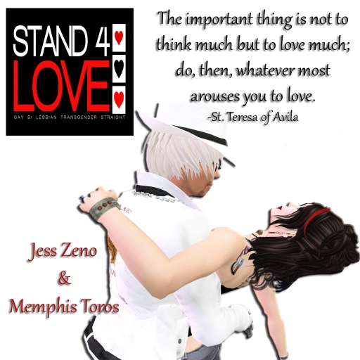 STAND4LOVE Jess Zeno and Memphis Toros
