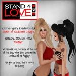 STAND4LOVE Kat Evangeline Resident and Natasha Stonesoul
