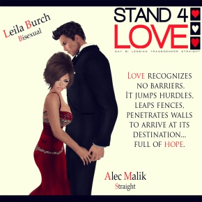 STAND4LOVE Leila Burch and Alec Malik