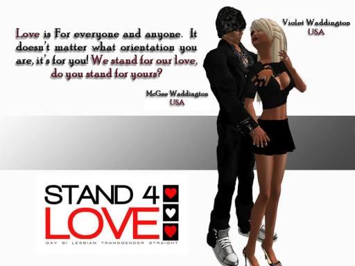 STAND4LOVE McGee Waddington and Violet Waddinton