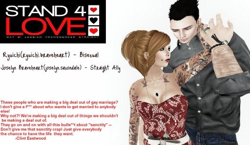 STAND4LOVE Ryuichi Braveheart and Joselyn Saxondale Braveheart