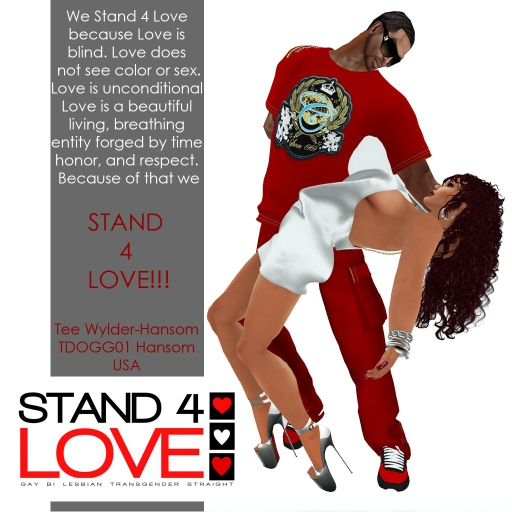 STAND4LOVE Tee Wylder-Hansom and TDOGG01 Hansom