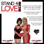 STAND4LOVE Lani Garnet and Lola Garnet