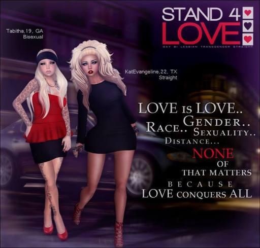 STAND4LOVE Tabitha and KatEvangeline