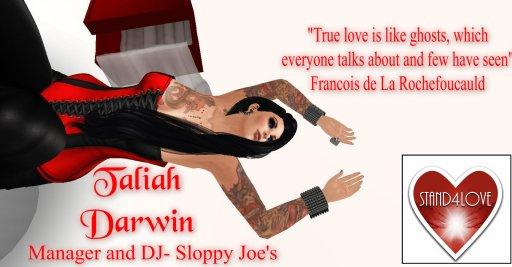 STAND4LOVE: TALIAH DARWIN