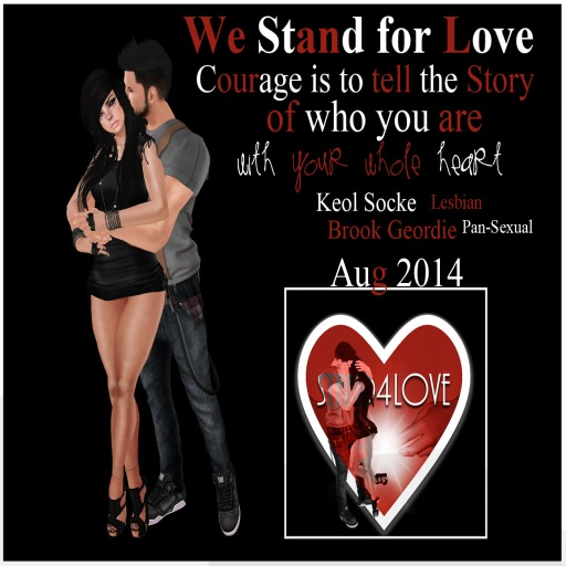 STAND4LOVE: Brook Geordie & Keol Socke