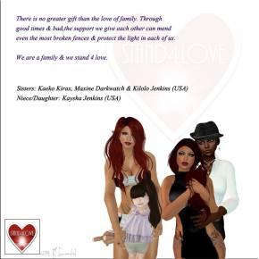 STAND4LOVE: Kilolo Jenkins, Kaeko Kirax, Maxine Darkwatch, Kaysha Jenkins