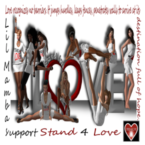 Stand 4 love cheer Done Sl size